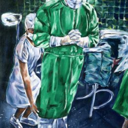 View Contemplation Before Surgery in Green