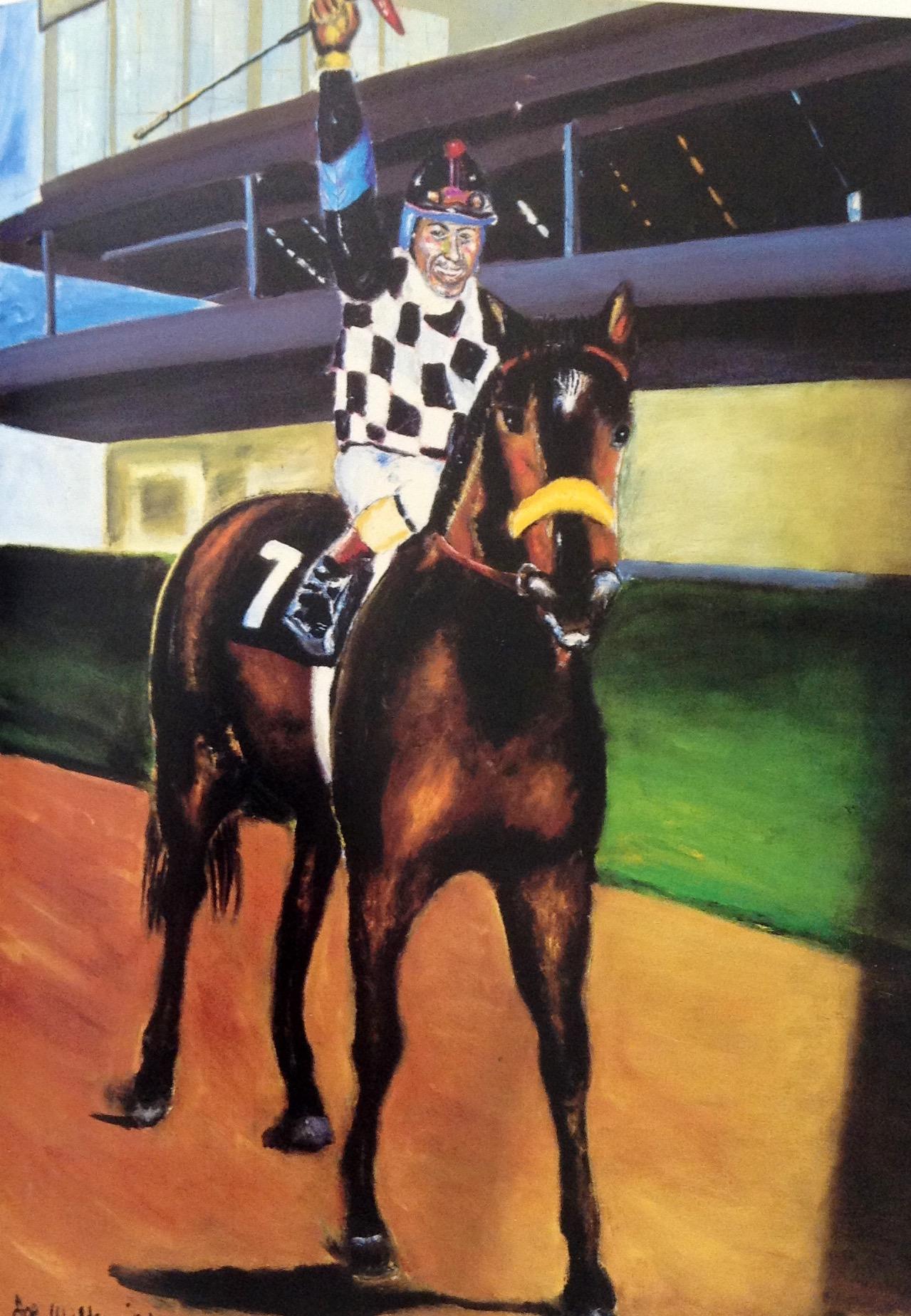 Horse Racing Oil Paintings