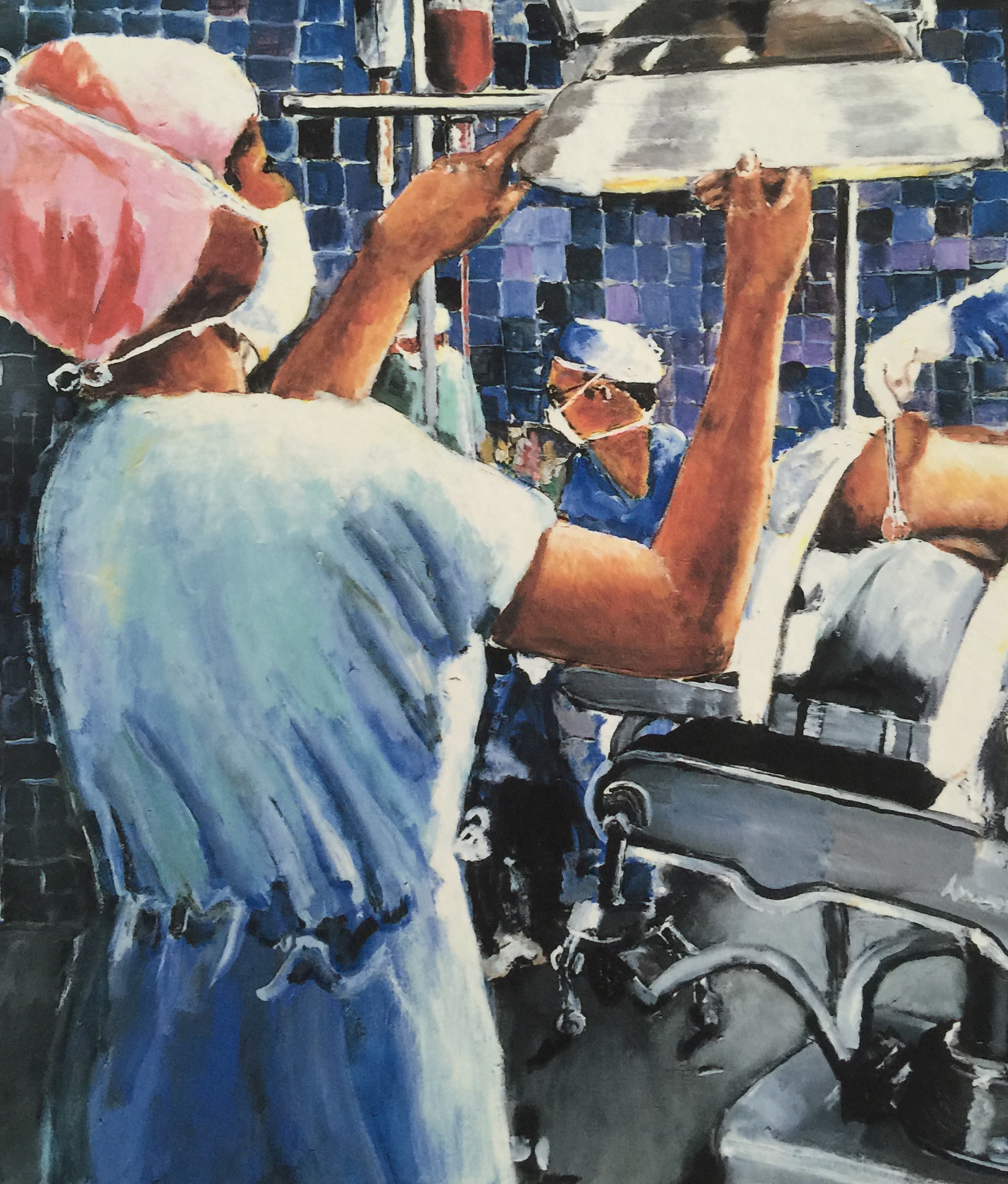 Nurses in the Operating Room Artwork