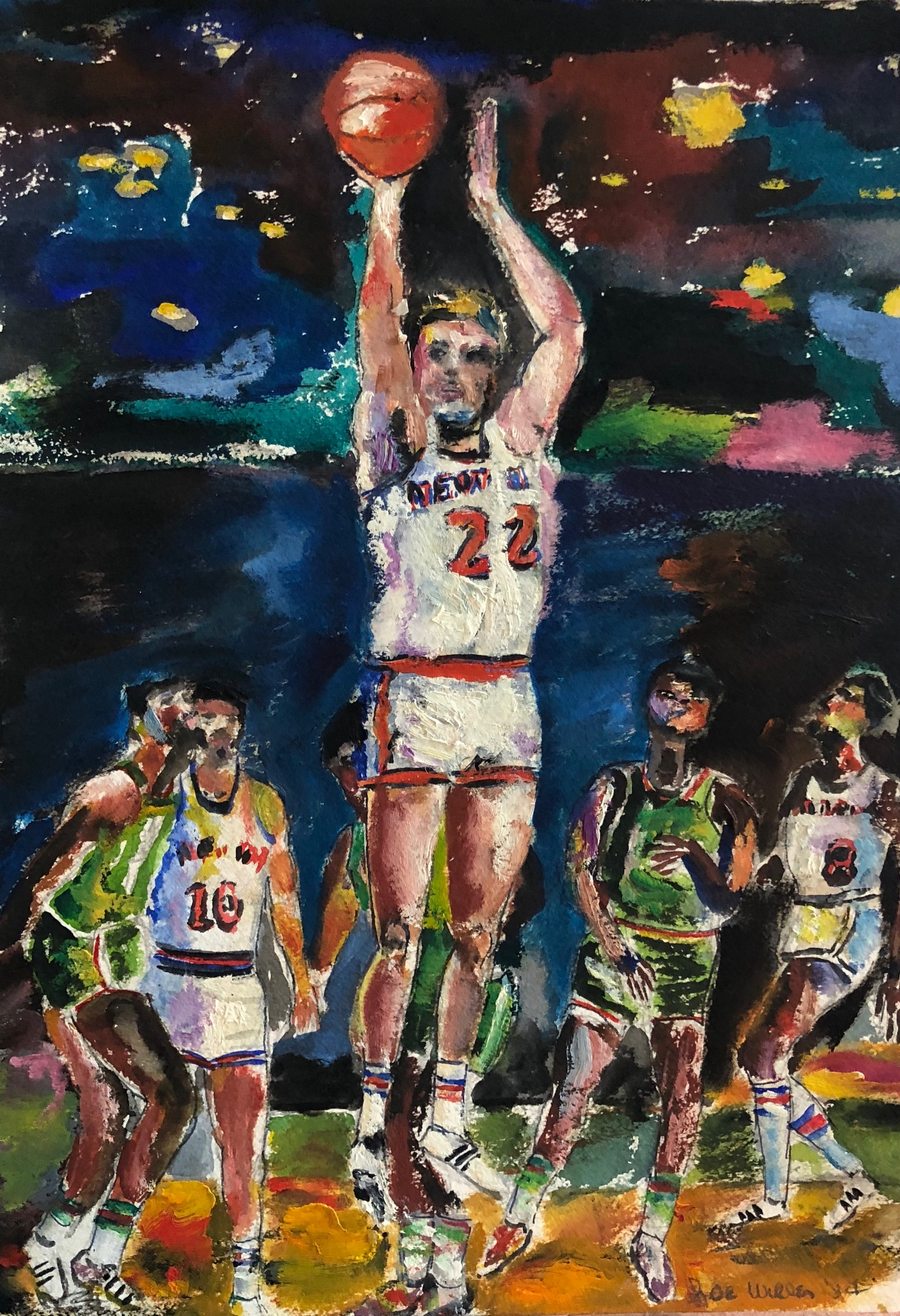 Athletes Paintings by Joe Wilder MD