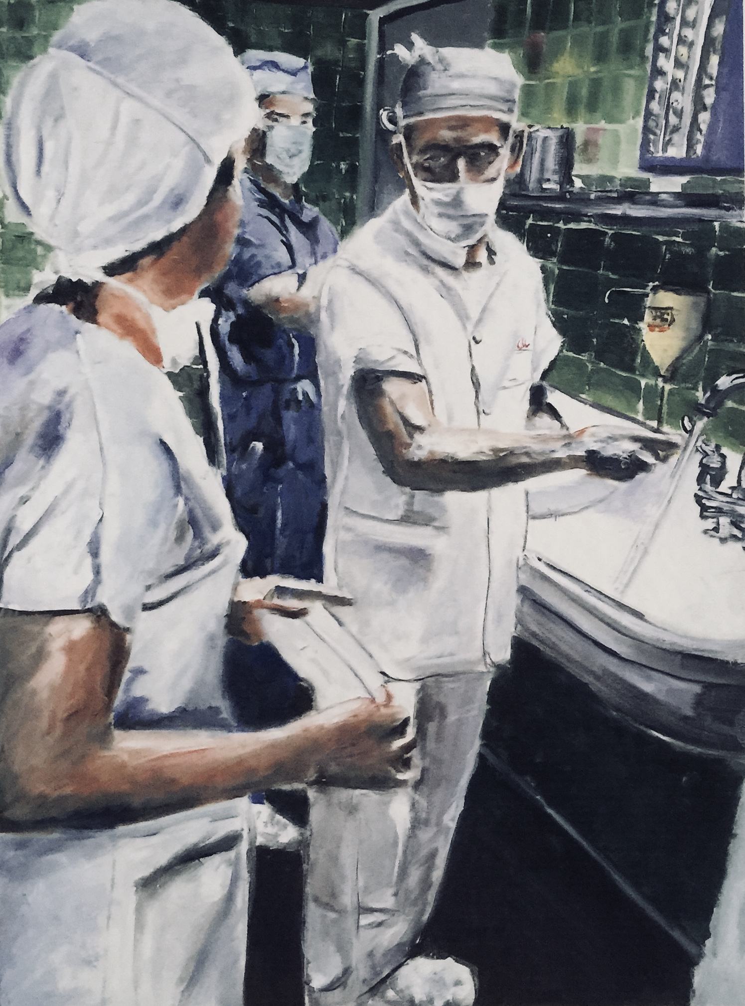 Scrubbing Hands   -  click to view in detail