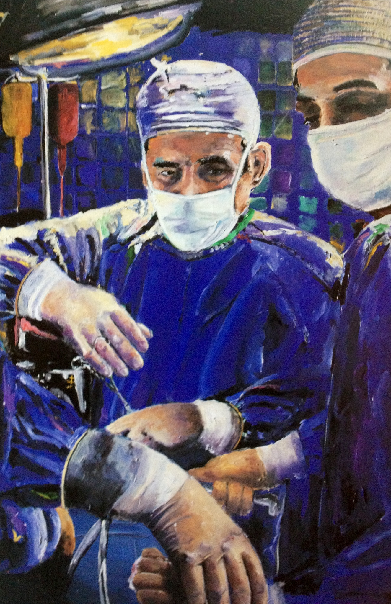 Magic Hands Of A Surgeon Performing Surgery Artwork for sale