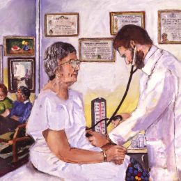 View Doctor Caring For Patient.