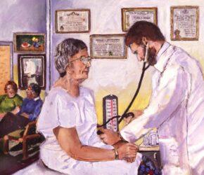 Doctor Examining Older Patient