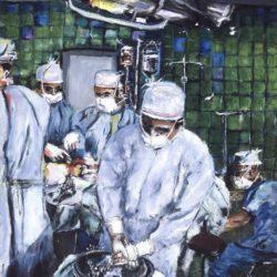 Surgeon Rinsing Hands Artwork