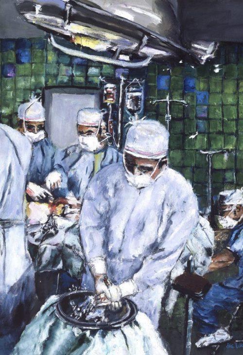Surgeon Rinsing Hands