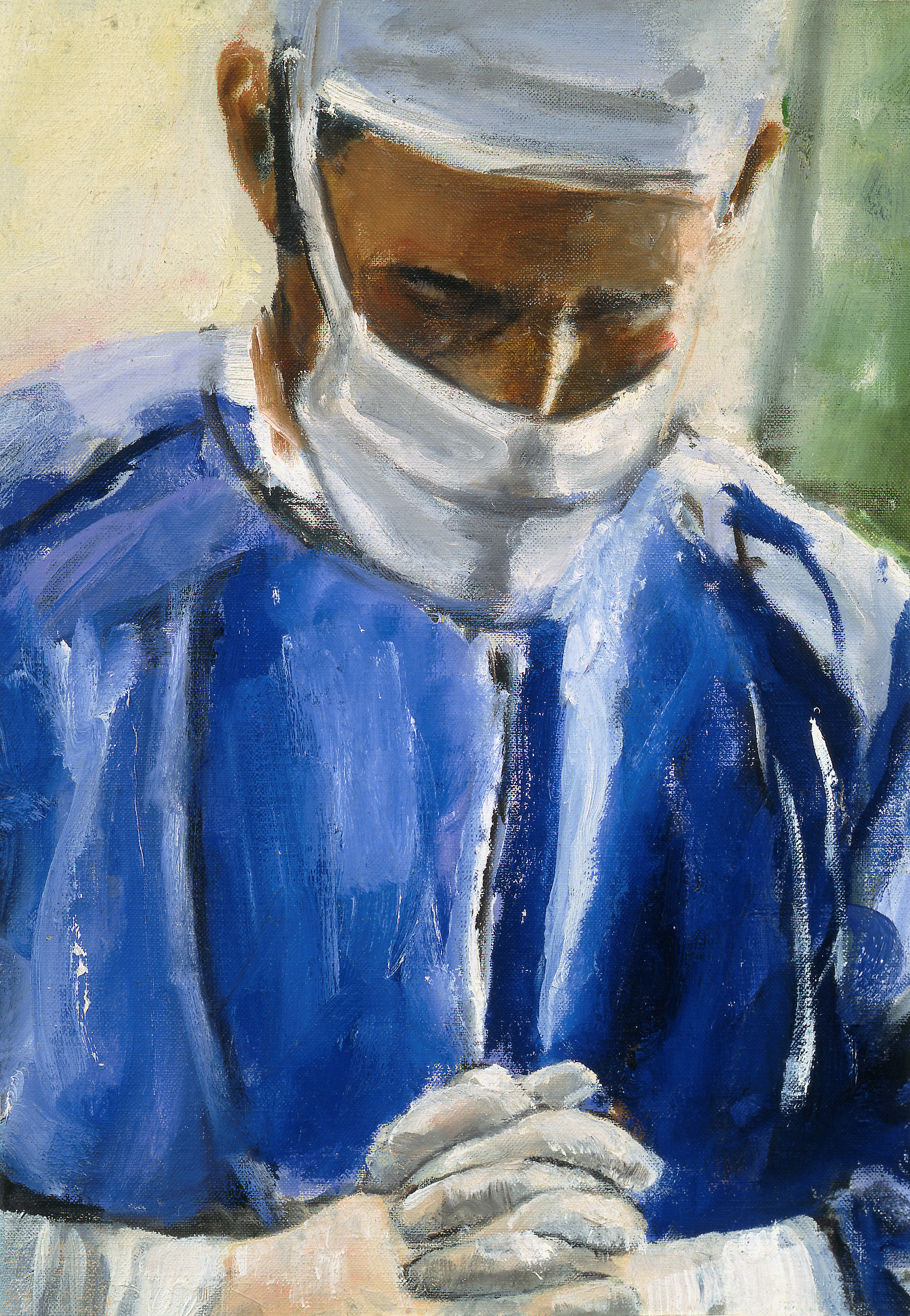 Contemplation Before Surgery painting artwork surgeon