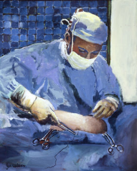 Surgeon Placing Sutures Surgery Medical Artwork for Walls