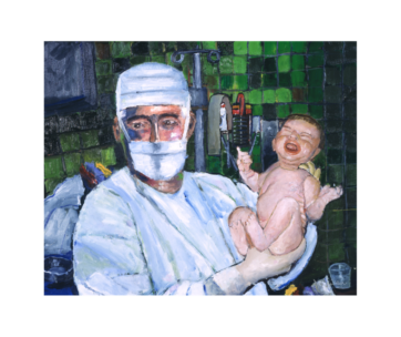 Obstetrician Delivering Newborn Baby