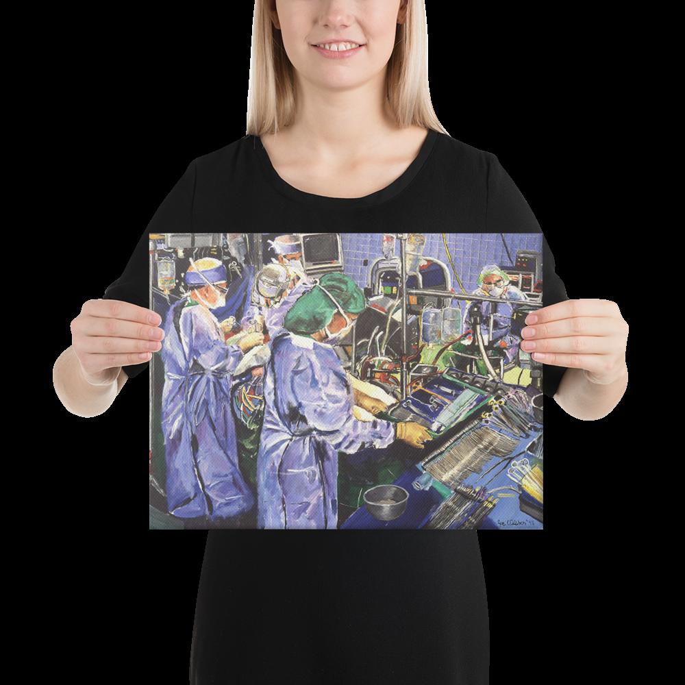 Cardiac Surgery Canvas Print Medical Wall Artwork