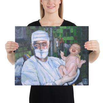 "Holding a 16"" x 20"" Canvas Print"