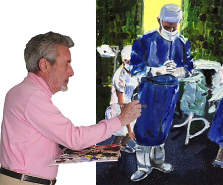 Dr Joe Wilder Painting Contemplation Before Surgery