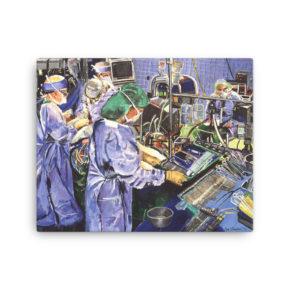 Cardiac Surgery Canvas Print Medical Artwork