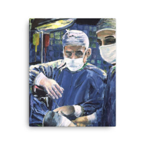 Art Canvas Print of Painting Artwork For Sale Magic Hands Of A Surgeon Performing Surgery