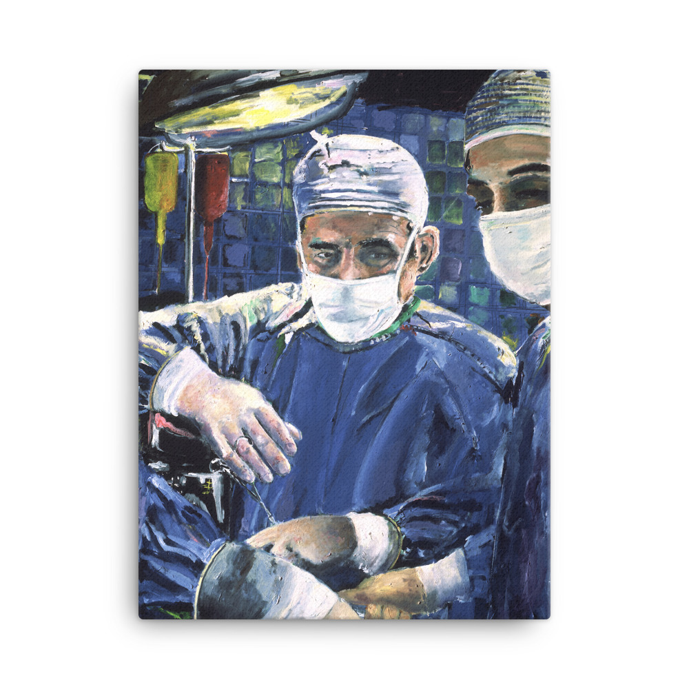 Magic Hands of Surgeon Canvas Print 18 x 24