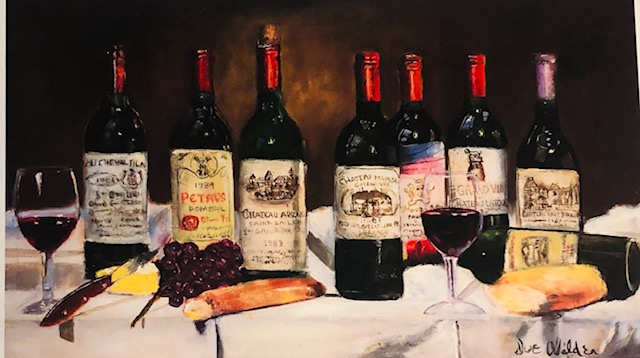 Wine Lithograph Art For Walls
