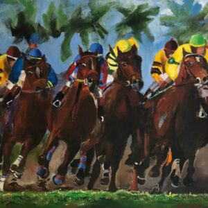 Race Thoroughbred Horse Digital Print