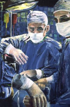 Giclee of painting for sale Magic Hands Of A Surgeon Performing Surgery