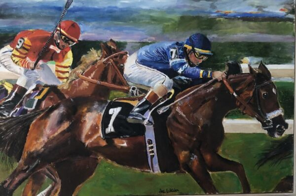Race Horse Digital Print