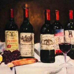 Wine Bottles Lithograph