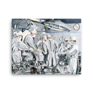 Surgeons As Heroes Canvas Print