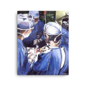 Surgeons Deep in Surgery Canvas Art Print