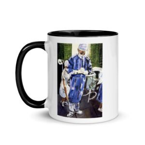 Contemplation Before Surgery Mug with Color Inside