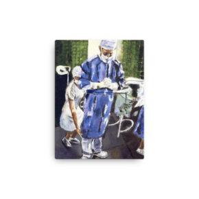Magic Hands of Surgeon Canvas Print 12 x 16