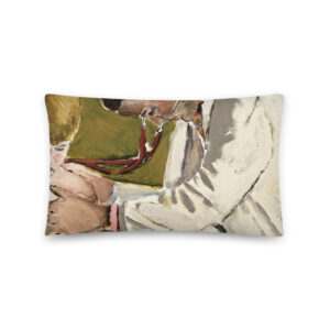Pediatrician Examining Patient Art Throw Pillow