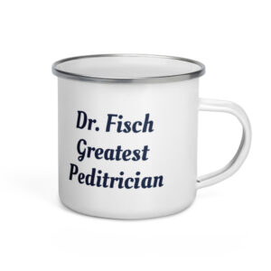 Personalize Pediatrician Enamel Coffee Mug