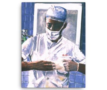 Surgeon Removing Gloves