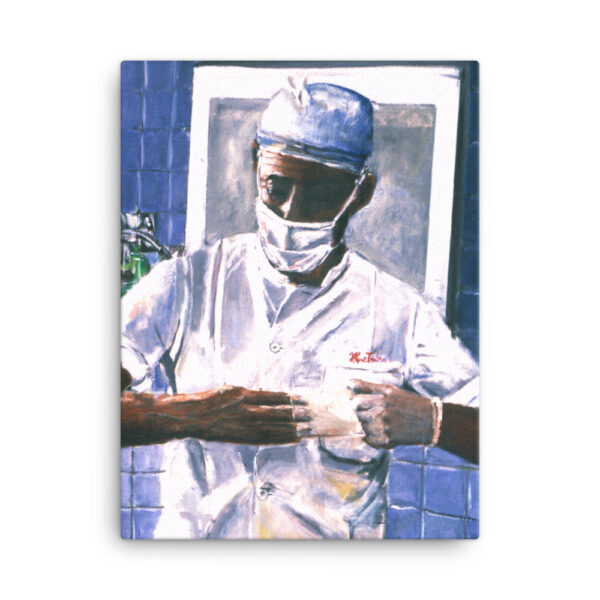 Surgeon Removing Gloves After Surgery