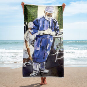 Contemplation Before Surgery Beach Towel