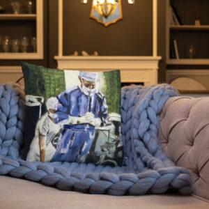 Surgeon Contemplation Before Surgery Premium Pillow
