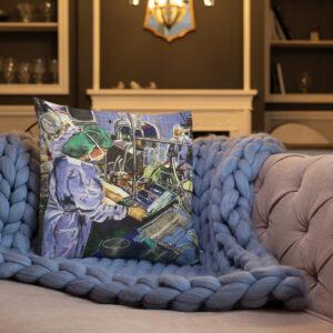 Nurses In The Operating Room - Premium Art Pillow
