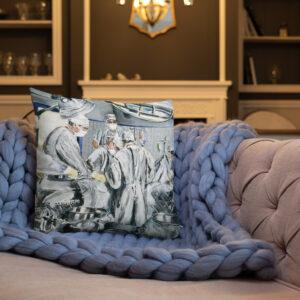 Surgeons As Heroes Printed Art Premium Decor Pillow