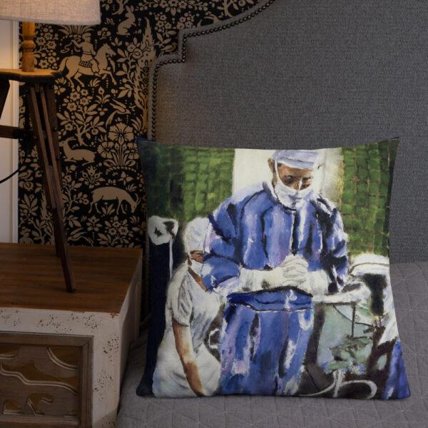 Art Pillow Gift Surgeon Contemplation Before Surgery