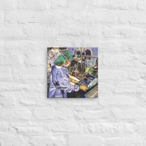 Nurse In The Operating Room Canvas Art Print
