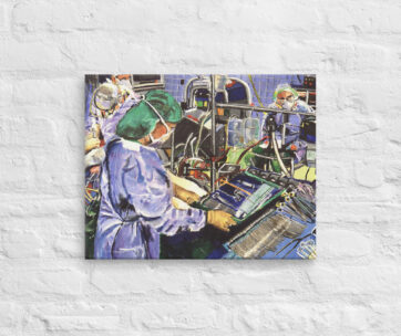 Nurse Working Surgery in Operating Room
