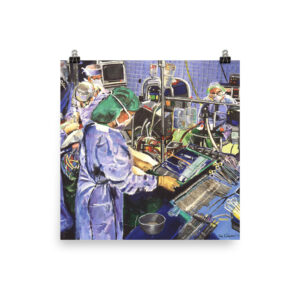 Nurse In The Operating Room - Museum Quality Paper Poster