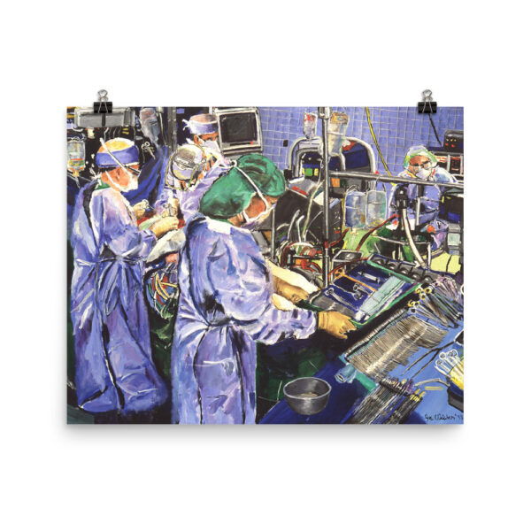 Nurse In The Operating Room – Museum Quality Paper Poster