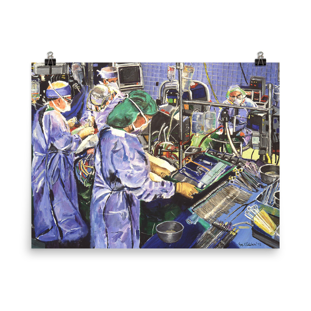Anesthesiologist in Operating Room - Canvas Wall Art $150.00 - $250.00