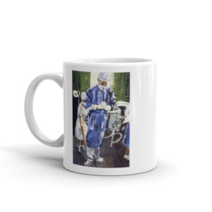 Surgeon Contemplation Before Surgery White glossy mug