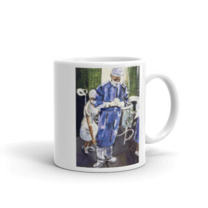 Surgeon in Contemplation Before Surgery - White Glossy Mug