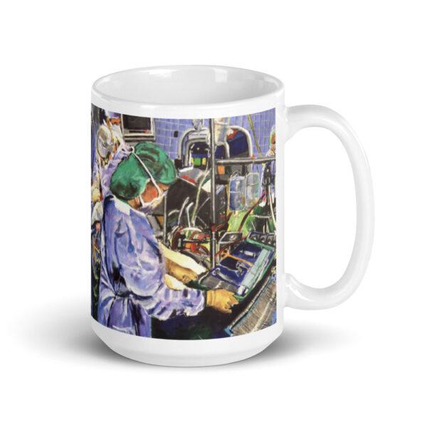 Coffee Mug OR Nurse Working Surgery in Operating Room