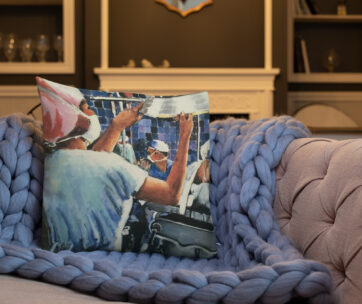 Nurse in Operating Room During Surgery Art Decor Pillow