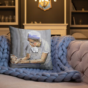 OB GYN Caring For New Birth Premium Pillow