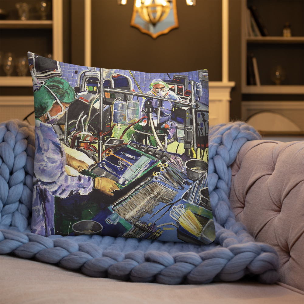 Anesthesiologist in Operating Room - Premium Decor Pillow $75.00 - $79.00 free shipping
