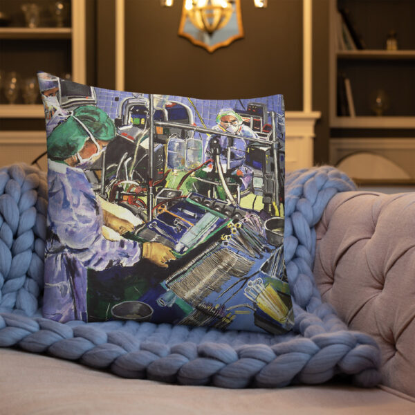 Anesthesiologist in Operating Room - Premium Decor Pillow