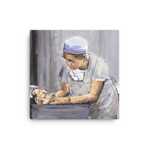 OB GYN After Delivery With New Birth - Original Canvas Wall Art